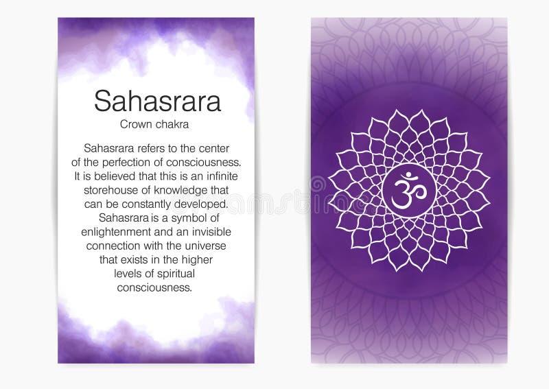 Settimo, chakra della corona - Sahasrara illustrazione vettoriale