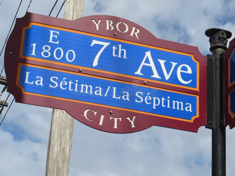 settimo viale, città di Ybor, Tampa immagini stock