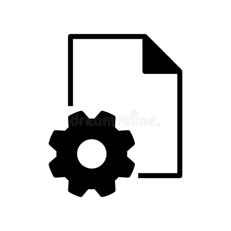 Setting file icon, vector illustration. On white background royalty free illustration