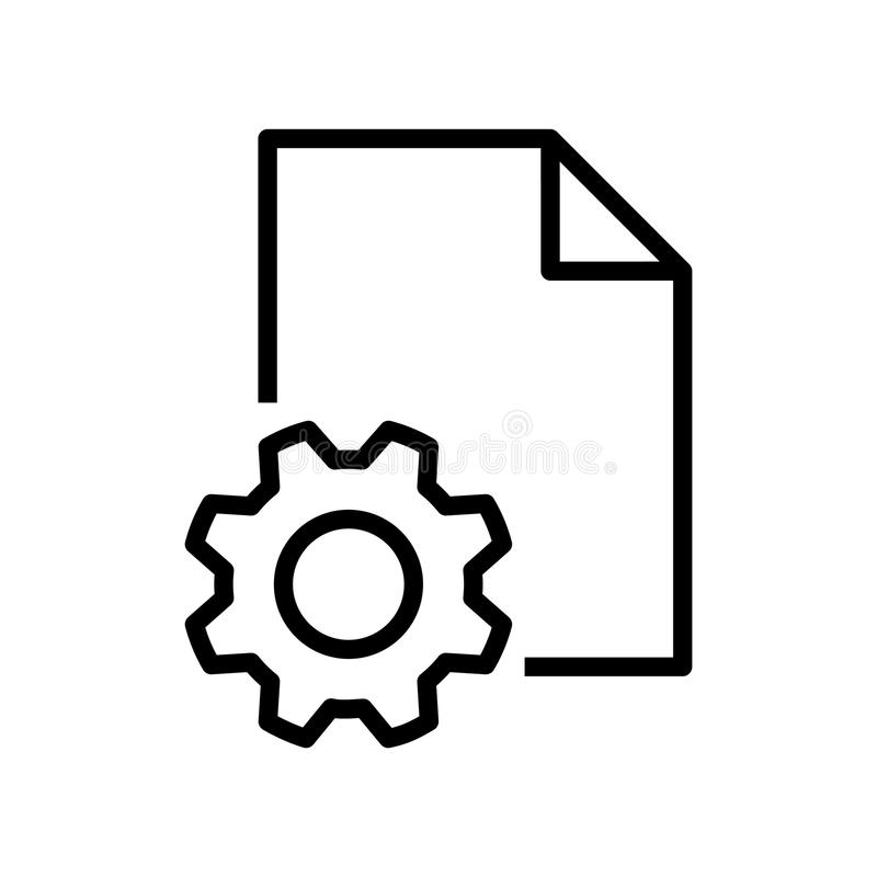 Setting file icon, vector illustration. On white background vector illustration
