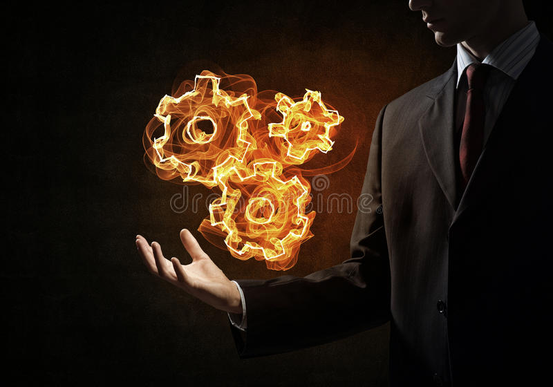Setting fire icon stock images