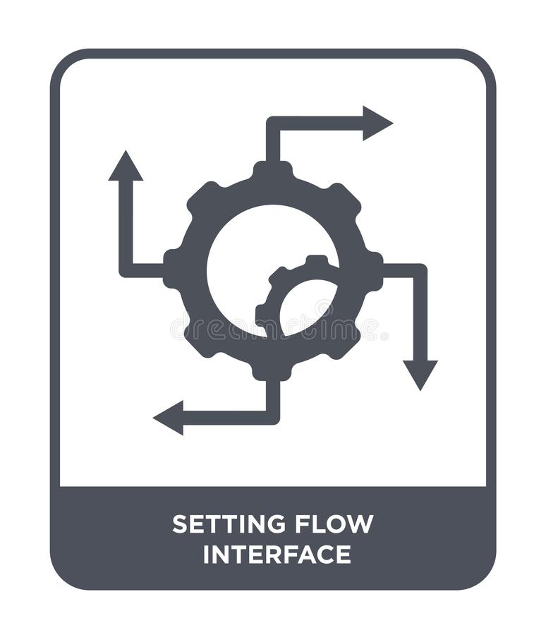 setting flow interface icon in trendy design style. setting flow interface icon isolated on white background. setting flow royalty free illustration