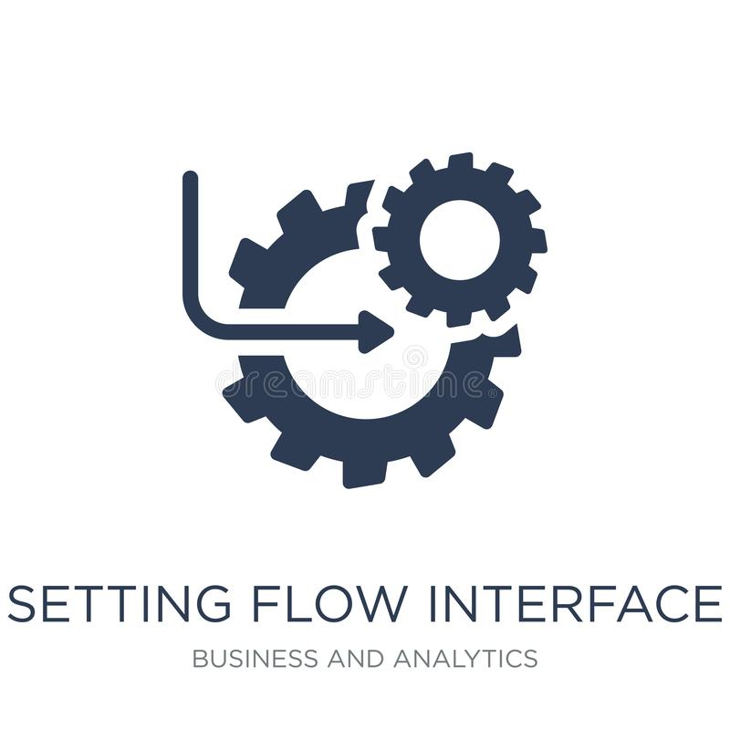 Setting flow interface symbol icon. Trendy flat vector Setting f royalty free illustration