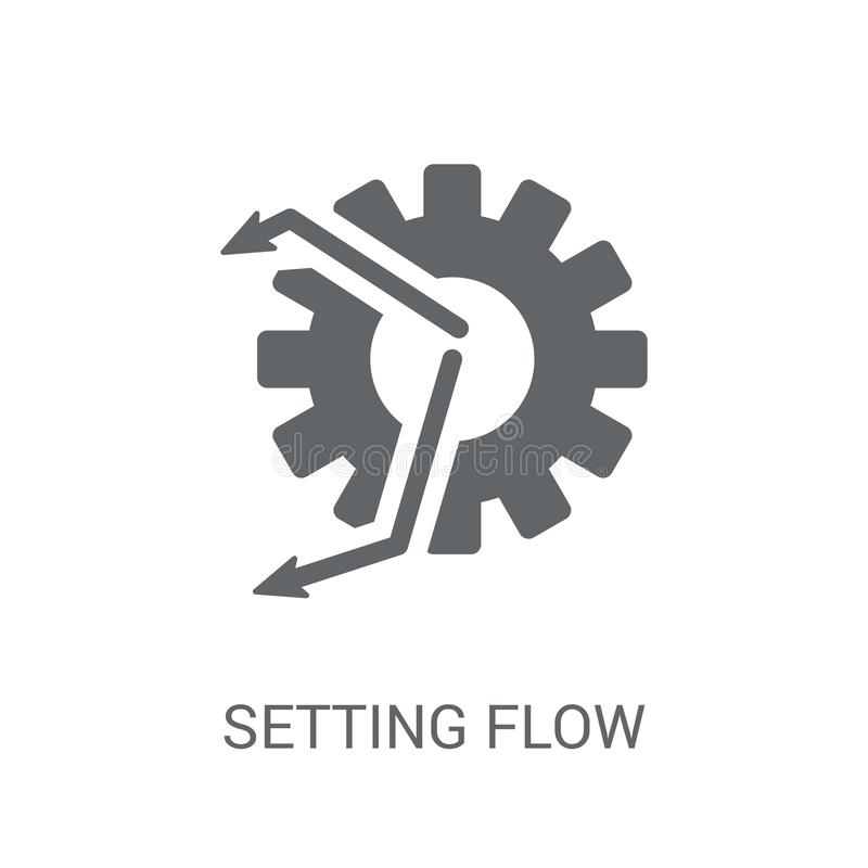 Setting flow interface symbol icon. Trendy Setting flow interface symbol logo concept on white background from Business and stock illustration
