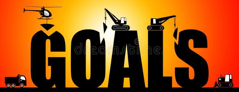 Setting goals stock illustration