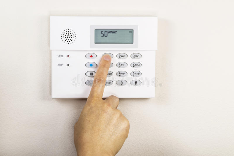 Download Setting Home Alarm System stock photo. Image of security - 26527802