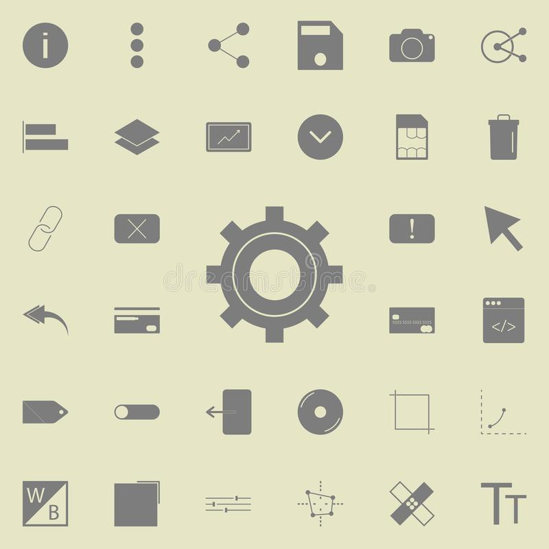 setting icon. Detailed set of minimalistic icons. Premium quality graphic design sign. One of the collection icons for websites, w royalty free illustration