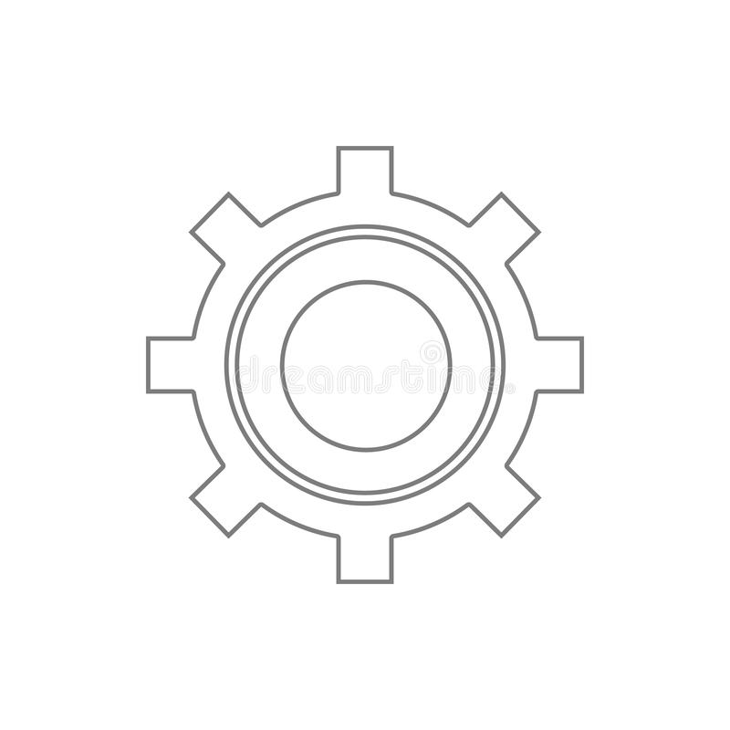 setting icon. Element of cyber security for mobile concept and web apps icon. Thin line icon for website design and development, stock illustration