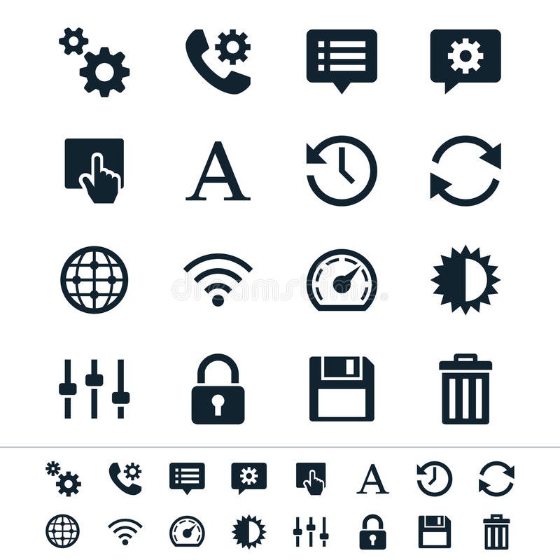 Download Setting icons stock vector. Illustration of brightness - 32308964