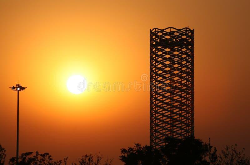Setting sun. The setting sun, Tianjin, China stock photo