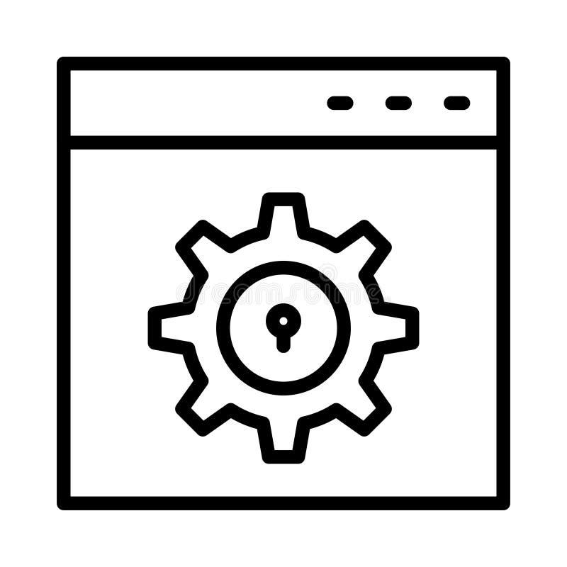 Setting thin line vector icon vector illustration