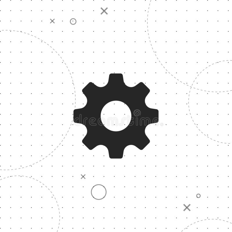 Setting , Tools, Cog, Gear vector icon royalty free illustration