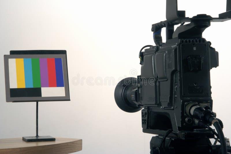 Setting-up a câmera imagens de stock