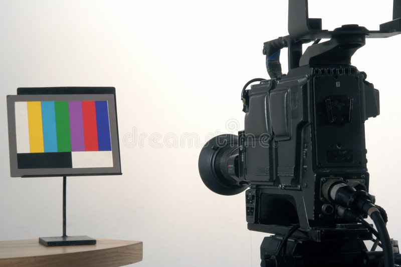Setting Up the camera stock images