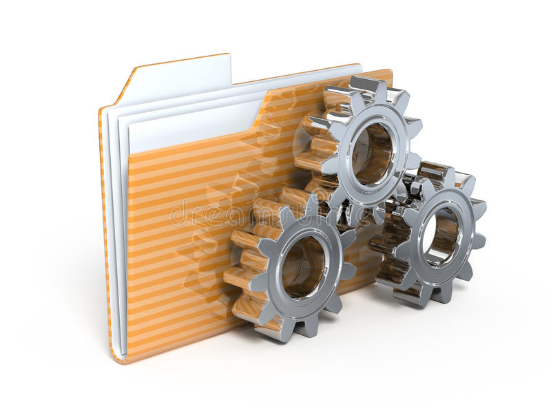 Download Settings 3d icon stock illustration. Image of gears, online - 12062084