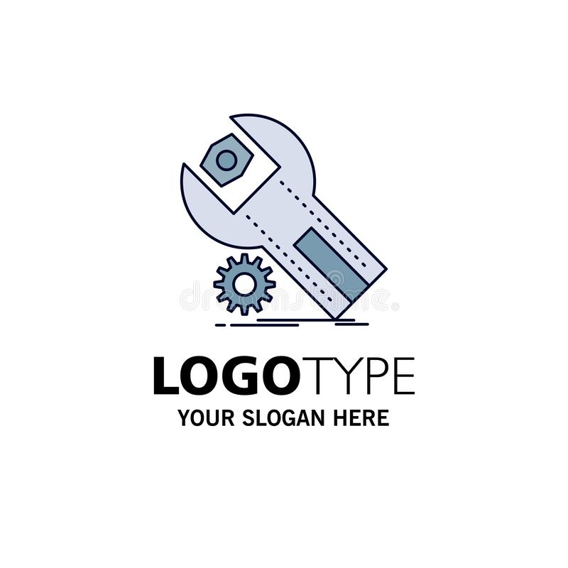 settings, App, installation, maintenance, service Flat Color Icon Vector royalty free illustration
