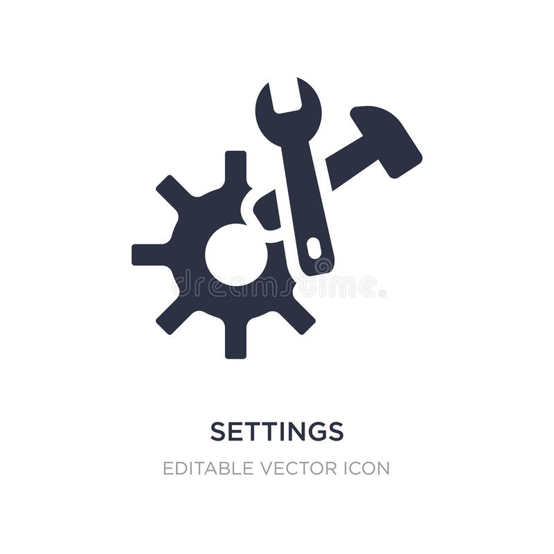 settings cogwheel button icon on white background. Simple element illustration from UI concept stock illustration
