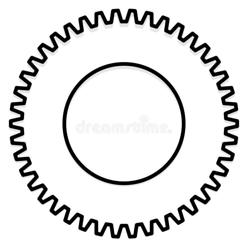 Settings, configuration, maintance, service or repair, development concept icon with gear symbol. Royalty free vector illustration stock illustration