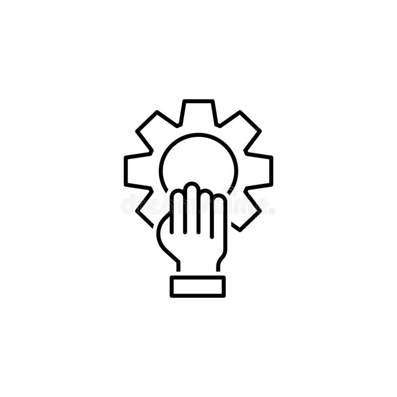 Settings icon. Element of interview icon royalty free illustration