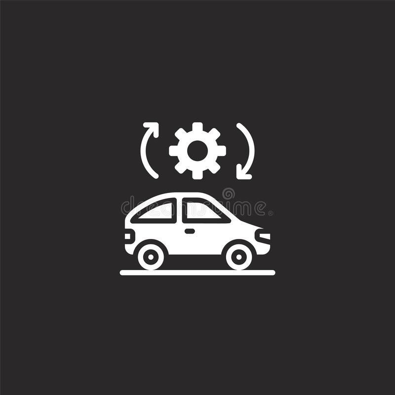 settings icon. Filled settings icon for website design and mobile, app development. settings icon from filled smart cars royalty free illustration