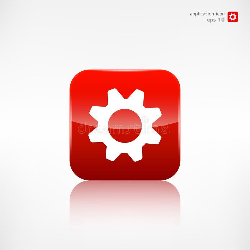 Settings icon. Gear symbol application button. vector illustration