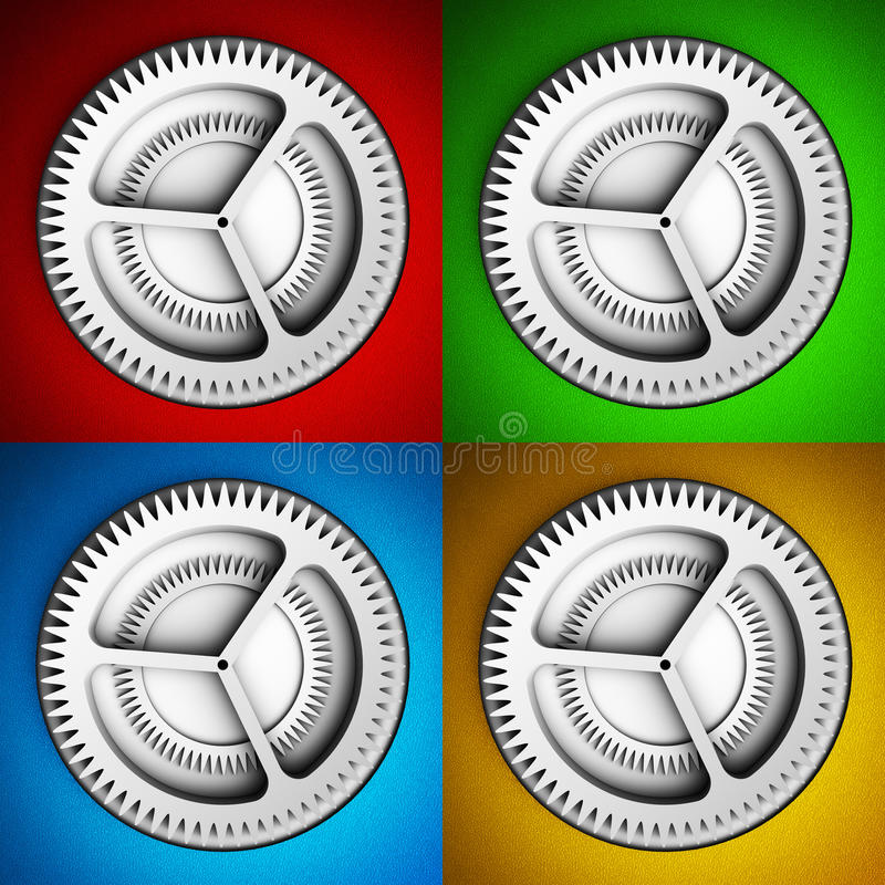 Download Settings icon with gears stock illustration. Image of grey - 34342990