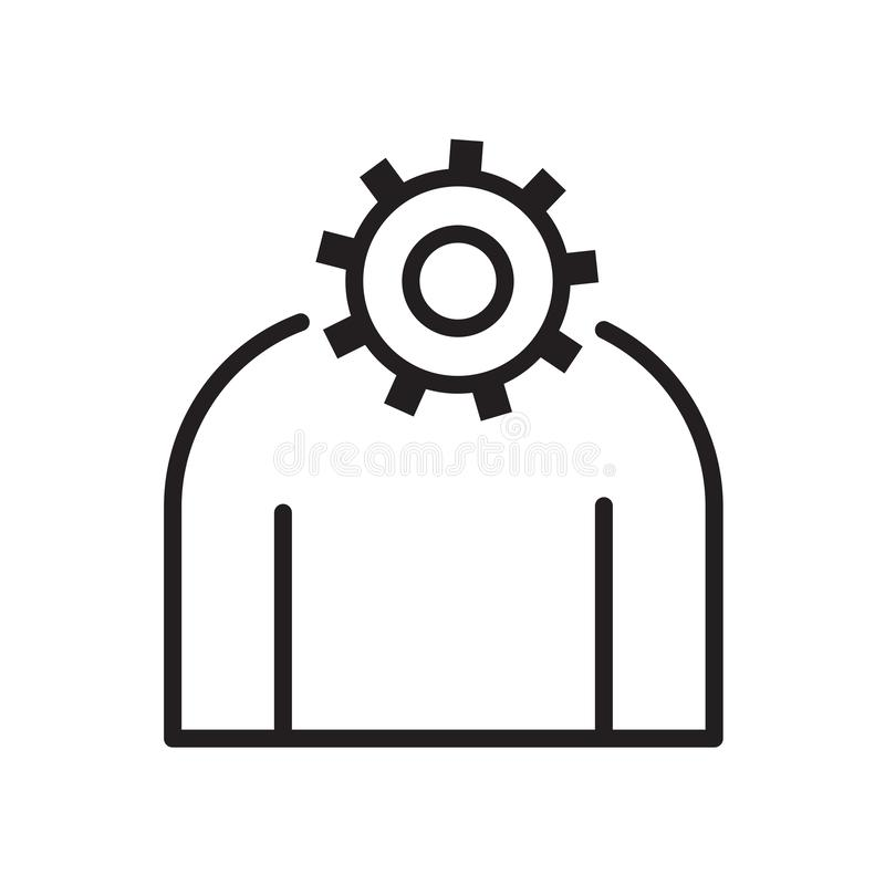 settings icon with man icon vector illustration