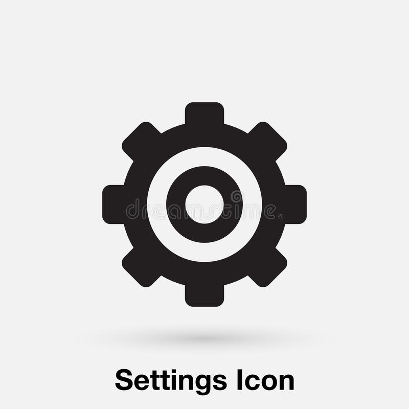 Settings icon vector, solid illustration, pictogram isolated on gray. Settings icon vector, solid illustration, pictogram isolated on gray vector illustration