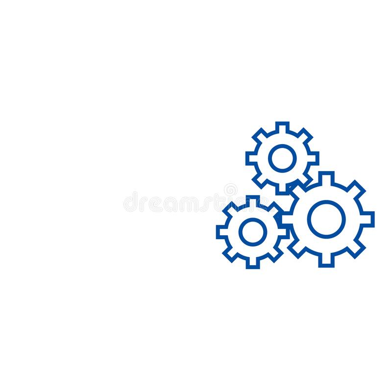 Settings sign line icon concept. Settings sign flat  vector symbol, sign, outline illustration. stock illustration