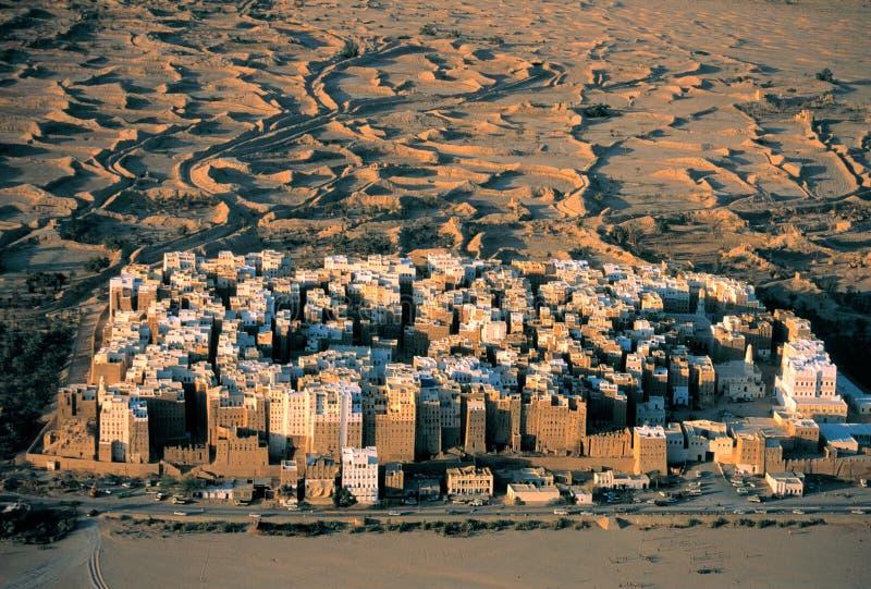 Settlement in the desert stock photo