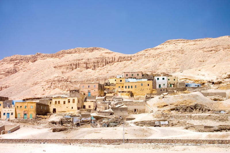 Settlement In Mountains At Road Stock Photo