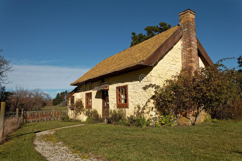 Settlers Cottage, The Moutere, New Zealand stock image