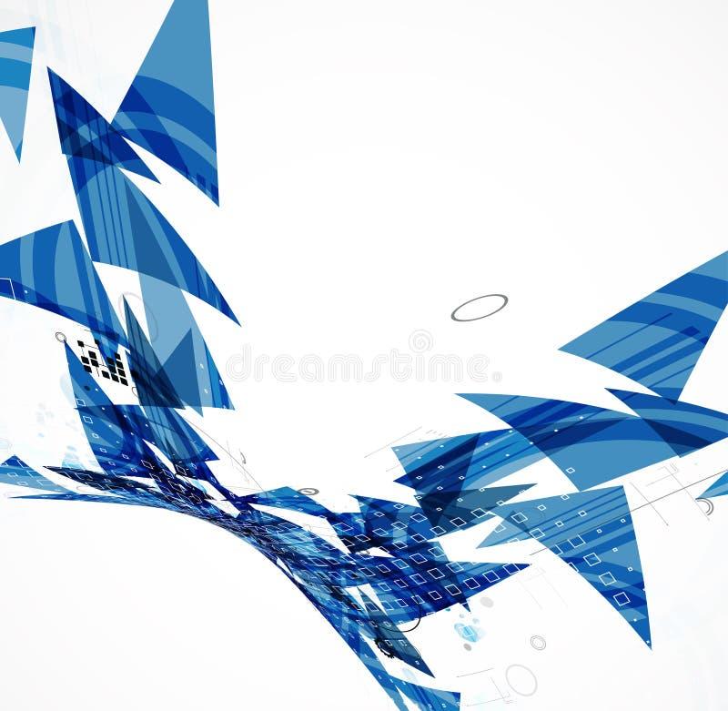 Settore commerciale astratto di tecnologia dell'elaboratore digitale del triangolo illustrazione di stock