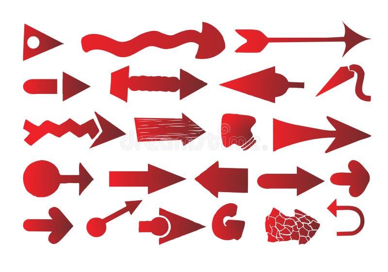 setu strzałkowaty wektor ilustracji