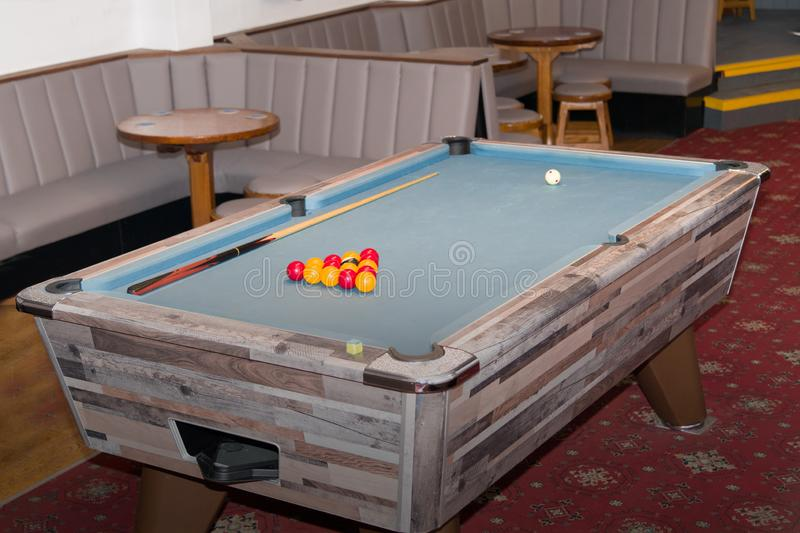 The Pool Table is Set up royalty free stock images