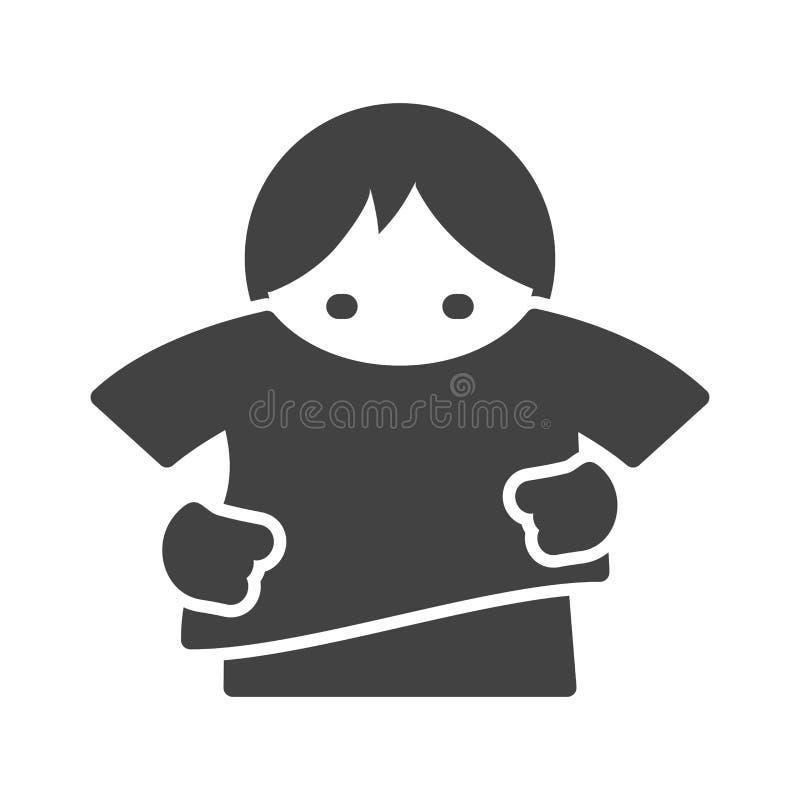 Setzen auf Hemd vektor abbildung