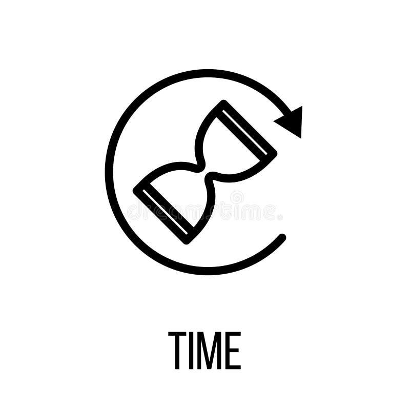 Setzen Sie der Ikone oder Zeit Logos in der modernen Linie Art fest lizenzfreie abbildung