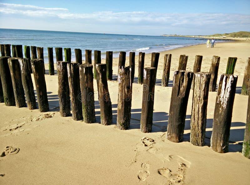 Setzen Sie Ferien auf den Strand stockfoto
