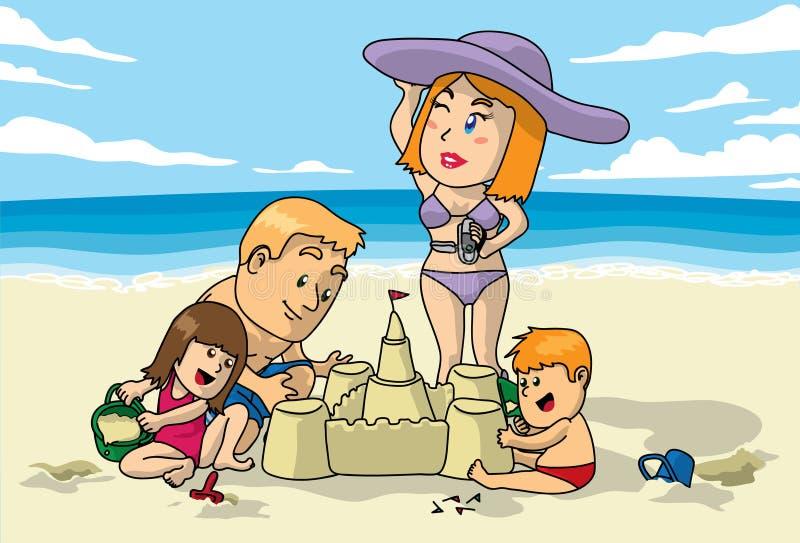 Setzen Sie Spaß auf den Strand lizenzfreie abbildung