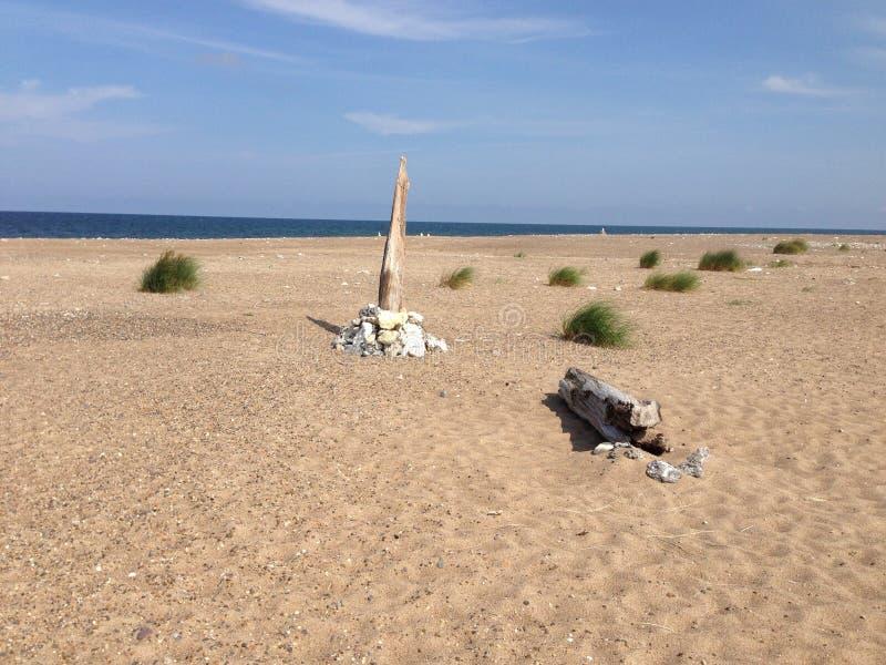 Setzen Sie Thy auf den Strand stockfotografie