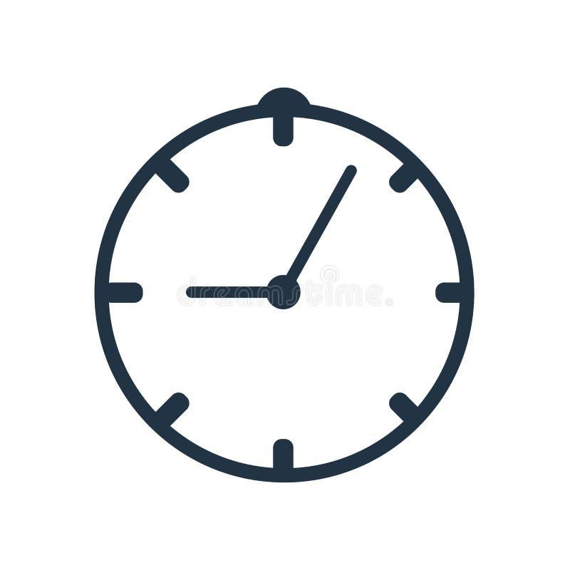 Setzen Sie Zeit Ikonenvektors fest, der auf weißem Hintergrund, Zeitzeichen lokalisiert wird vektor abbildung