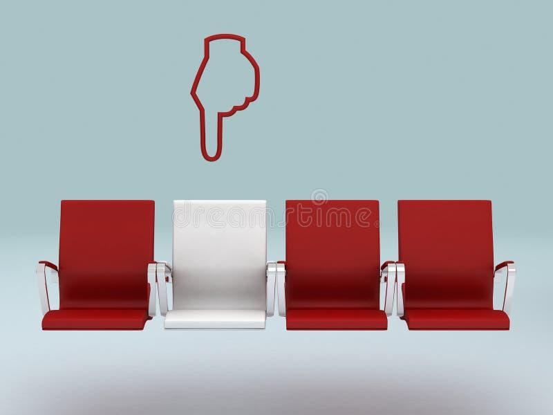 Seu conceito especial do assento, rendido em 3d ilustração royalty free