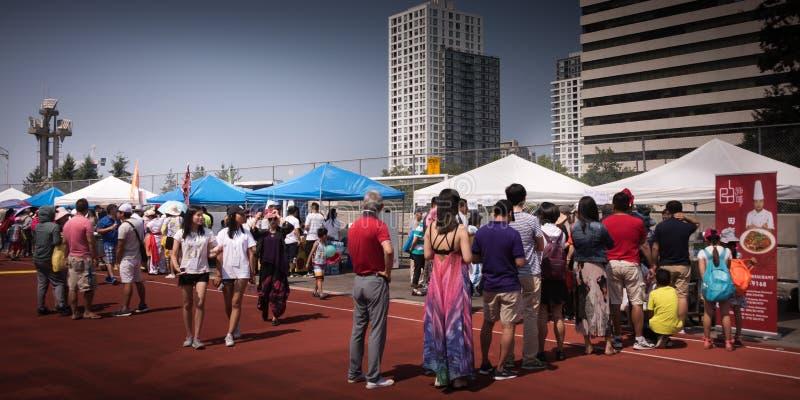 Seu festival chinês no Central Park Burnaby Canadá fotografia de stock