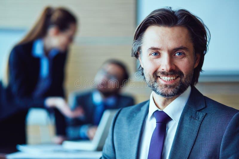 Seu gerente pessoal foto de stock