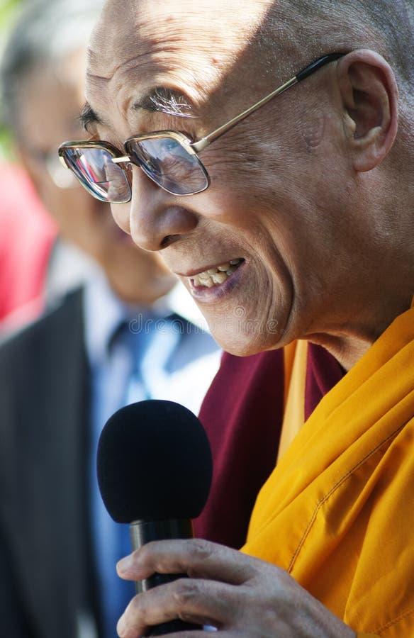 Seu Holliness Dalai Lama foto de stock