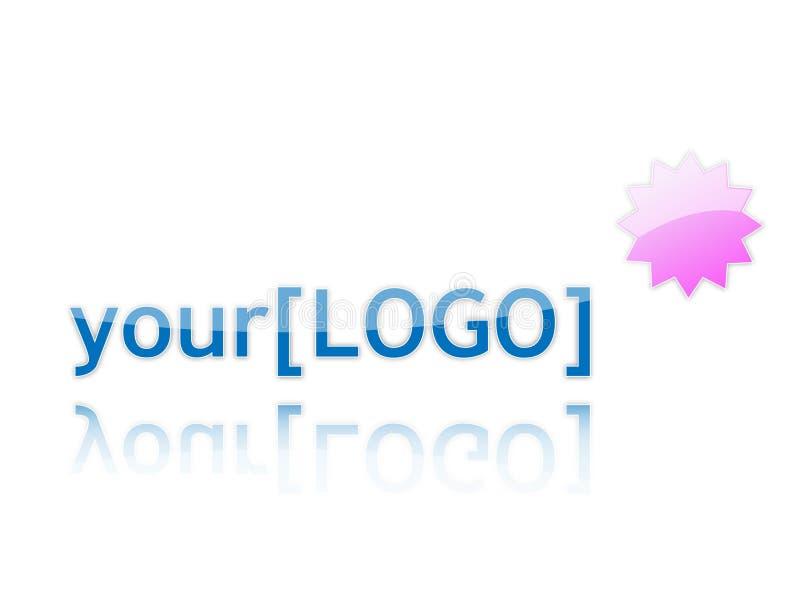 Seu logotipo ilustração stock