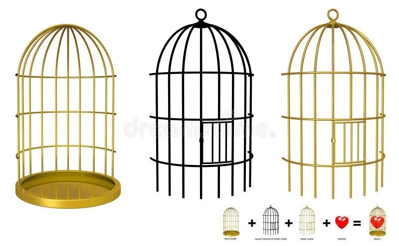 Seu objeto na gaiola ilustração royalty free