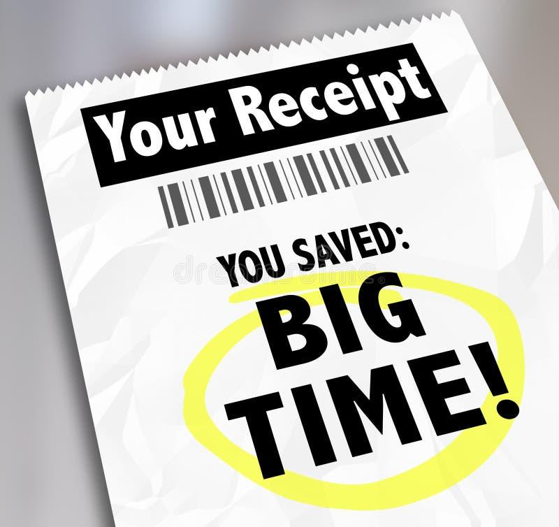 Seu recibo você salvar o disconto da venda das compras da loja do máximo ilustração royalty free