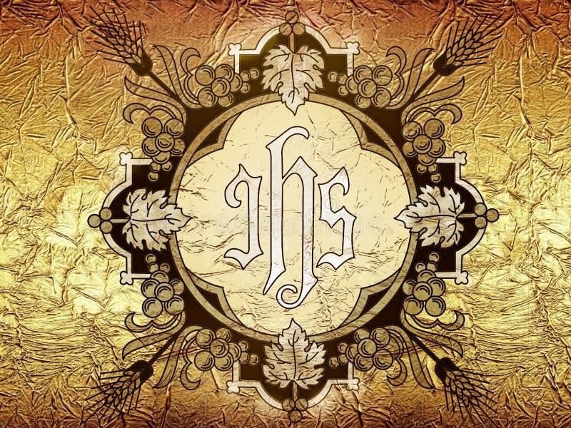 SEU símbolo Jesus Christ Background ilustração royalty free