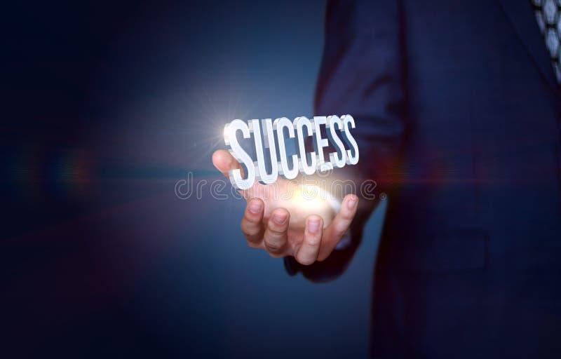 Seu sucesso está em suas mãos imagens de stock royalty free